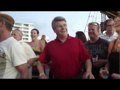 Dancing on the Pirate Ship in Cozumel