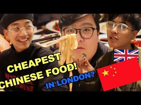MUST TRY CHINESE FOOD IN LONDON!