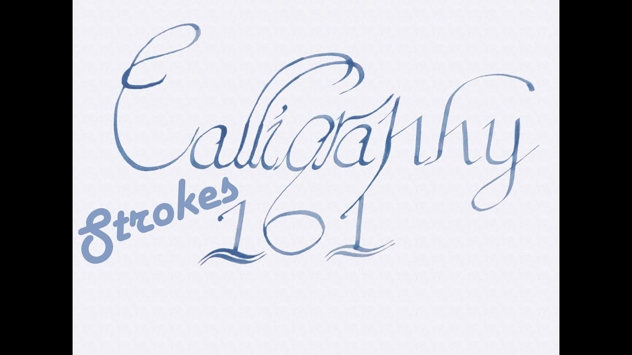 Calligraphy basics strokes 101 youtube Calligraphy basics