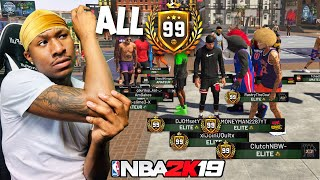 An ALL 99 overall 3s squad on NBA 2K19 is OVERPOWERED! 99 Overall stretch big! BEST JUMPSHOT 2K19!