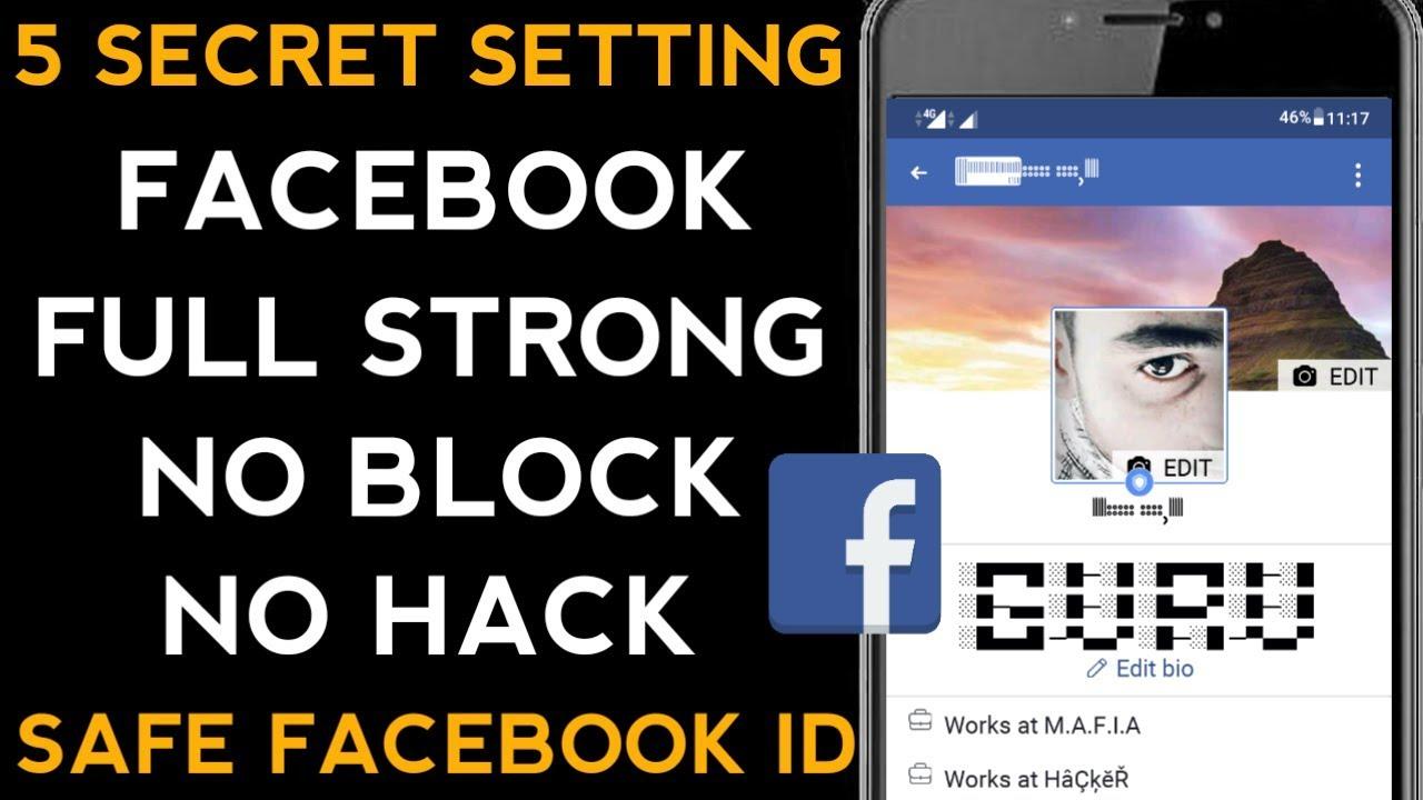 5 Facebook Secret Settings No Block No Security Check Full Strong Fb Account (2019)