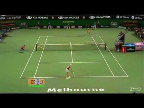Maria Sharapova vs Vera Zvonareva 2007 AO Highlights
