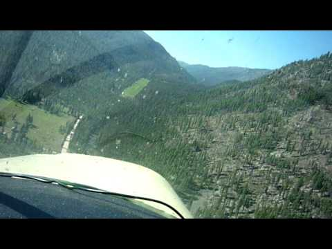 Slipping turn to final in the Piper Clipper