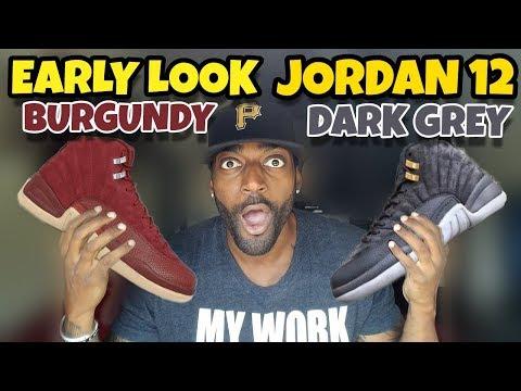 JORDAN 12 BURGUNDY & DARK GREY & OTHER SNEAKERS