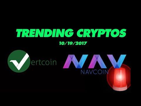 Trending cryptocurrencies: NAV Coin & Vertcoin - Oct 19th 2017