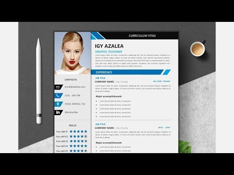 How To Design A Modern Resume Curriculum Vitae (CV) Template - Microsoft Publisher Tutorial