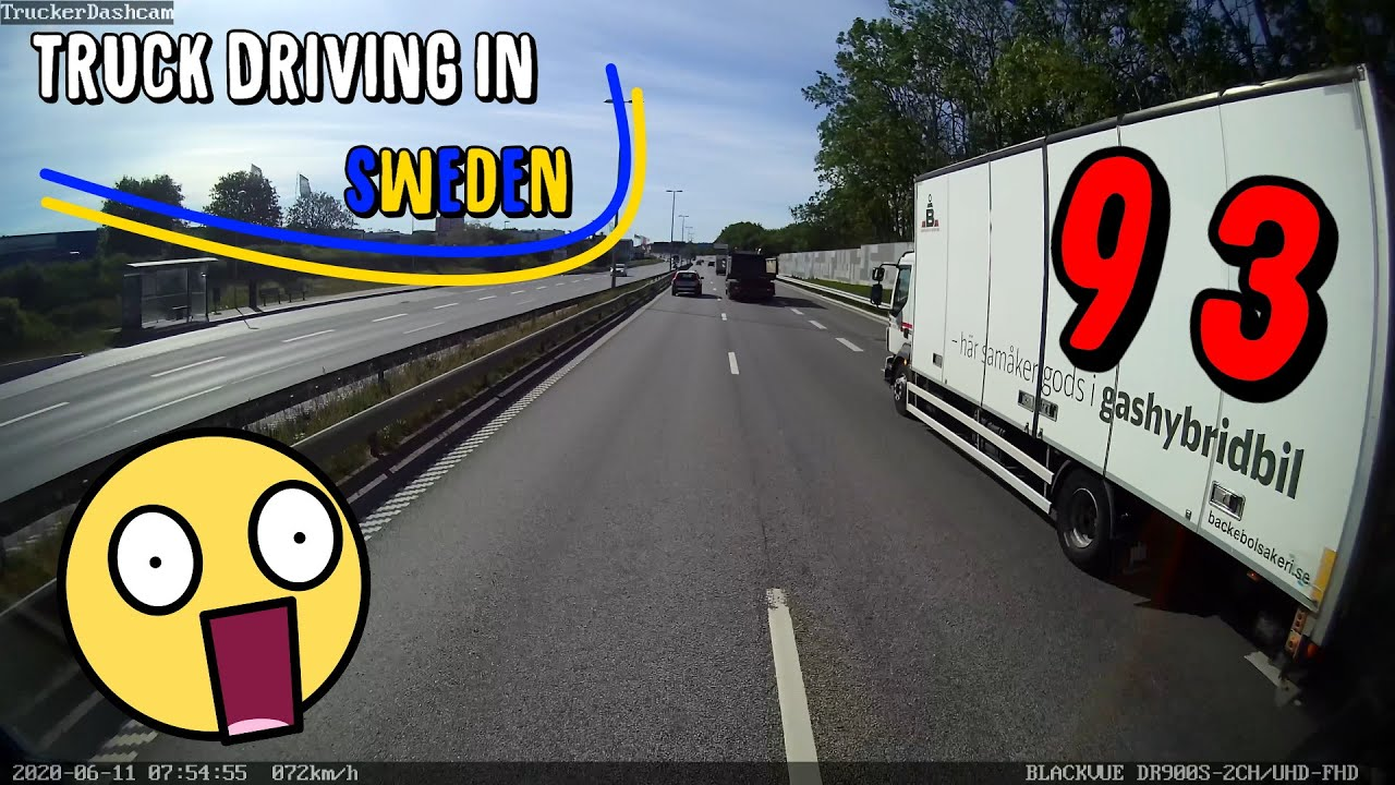 Trucker Dashcam #93 Truck Driving in Sweden - Watch out! 😄