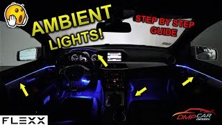 Easy AMBIENT LIGHT install on a Mercedes or any car!