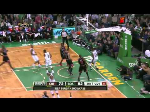 2011-12 Boston Celtics VS Chicago Bulls (Rondo Triple Double!)