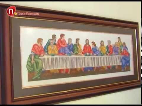 Noticias, Exposición de cuadros a punto de cruz en el hotel Abba ...