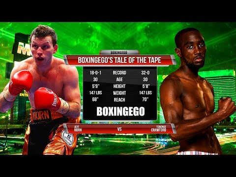 TERENCE CRAWFORD VS JEFF HORN Tale Of The Tape (BOXINGEGO FIRST LOOK)