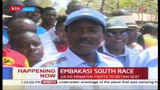 Wiper Party's Mawathe presents papers to IEBC in Embakasi South by-election