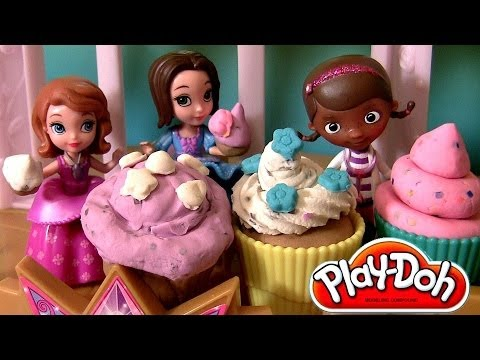Sofia Royal Tea Party, Talking Sofia the First doll, Play Doh Tea For Two With Doc McStuffins
