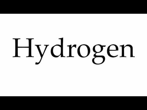 How to Pronounce Hydrogen