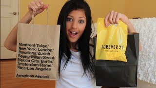 LA Haul! American Apparel, Brandy Melville, F21 & More! Thumbnail