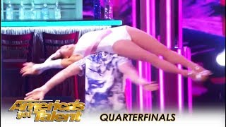 Quin & Misha: 71-Year-Old With UNBELIEVABLE Sexy Body Moves! | America's Got Talent 2018