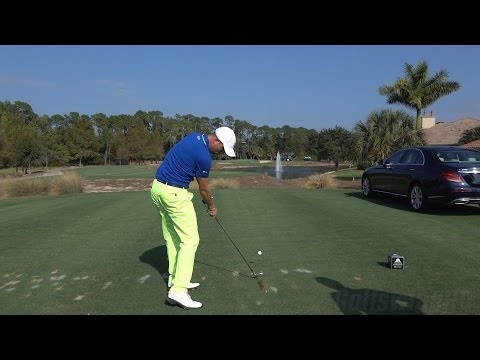 JUSTIN THOMAS 120fps SLOW MOTION DTL IRON GOLF SWING