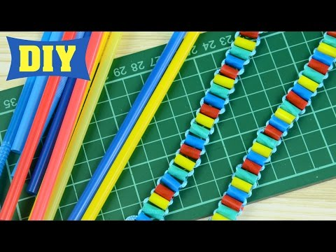 DIY: Drinking Straw Party Bracelet (Easy Recycling Project)
