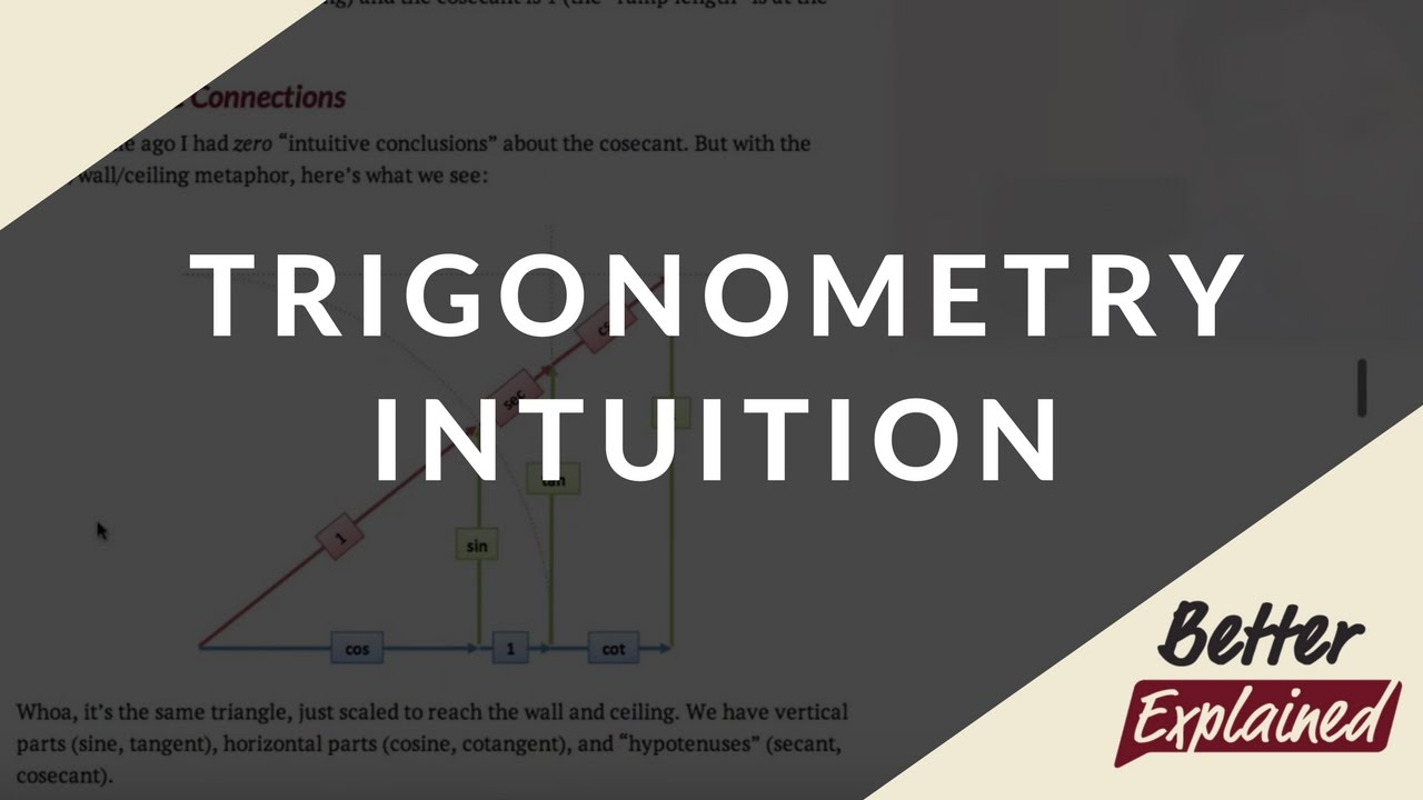 How To Learn Trigonometry Intuitively – BetterExplained