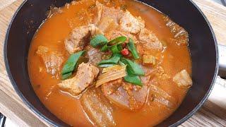 얼큰한 돼지고기 김치찌개 맛있게 끓이는법, 초간단 김치…