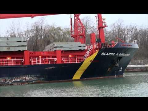 Ships CLAUDE A. DESGAGNES & JOHN B. AIRD on Welland Canal
