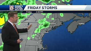 Cool couple of days and t-storms Friday