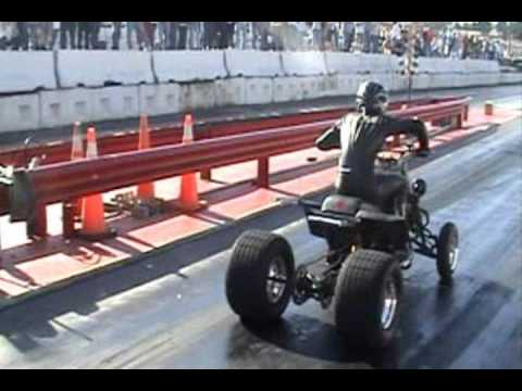 Cycle Specialties BSXR rapes a drag Banshee with no wheelie bars