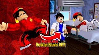 ROBLOX - BROKEN BONE IV, BREAKING EVERY BONE IN MY BODY!!