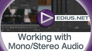 EDIUS.NET Podcast - Working with Mono/Stereo Audio