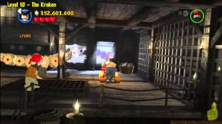 Lego Pirates of the Caribbean: Level 10 The Kraken - FREE PLAY (Minikits and Compass Items) - HTG