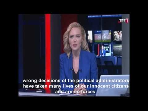 Tv Decleration of Coup in Turkey 15 July 2016