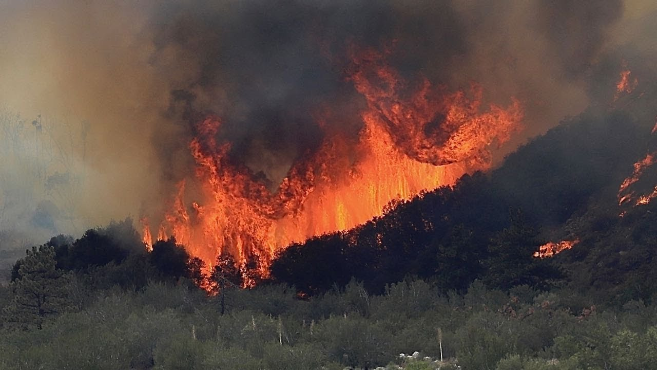 """The """"Valley Fire"""" in Forest Falls CA, July 6 2018 - YouTube"""