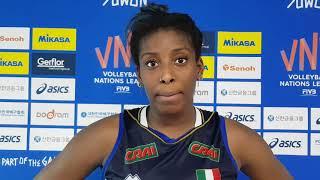 Volleyball Nations League F: Miriam Sylla dopo Italia vs Germania