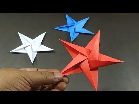 How To Make 5 Pointed Origami Stars - Easy And Simple Steps |