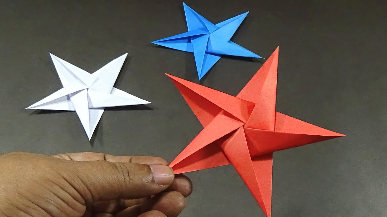 How To Make 5 Pointed Origami Stars