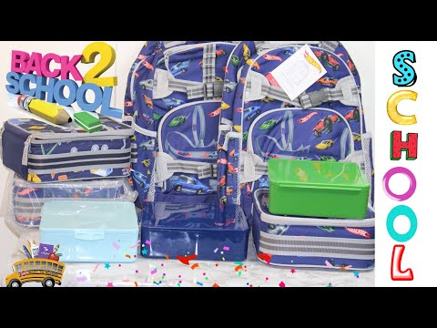 Pottery Barn Kids Backpack Lunchboxes review - Back To School