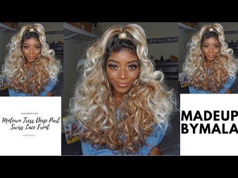 $30 Motown Tress Deep Part Swiss Lace Front Wig- LDP-DEW Divatress.com