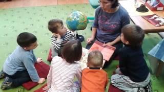 Занятие в Монтессори в Ыйсмяэ  Образование Земли и вулканы