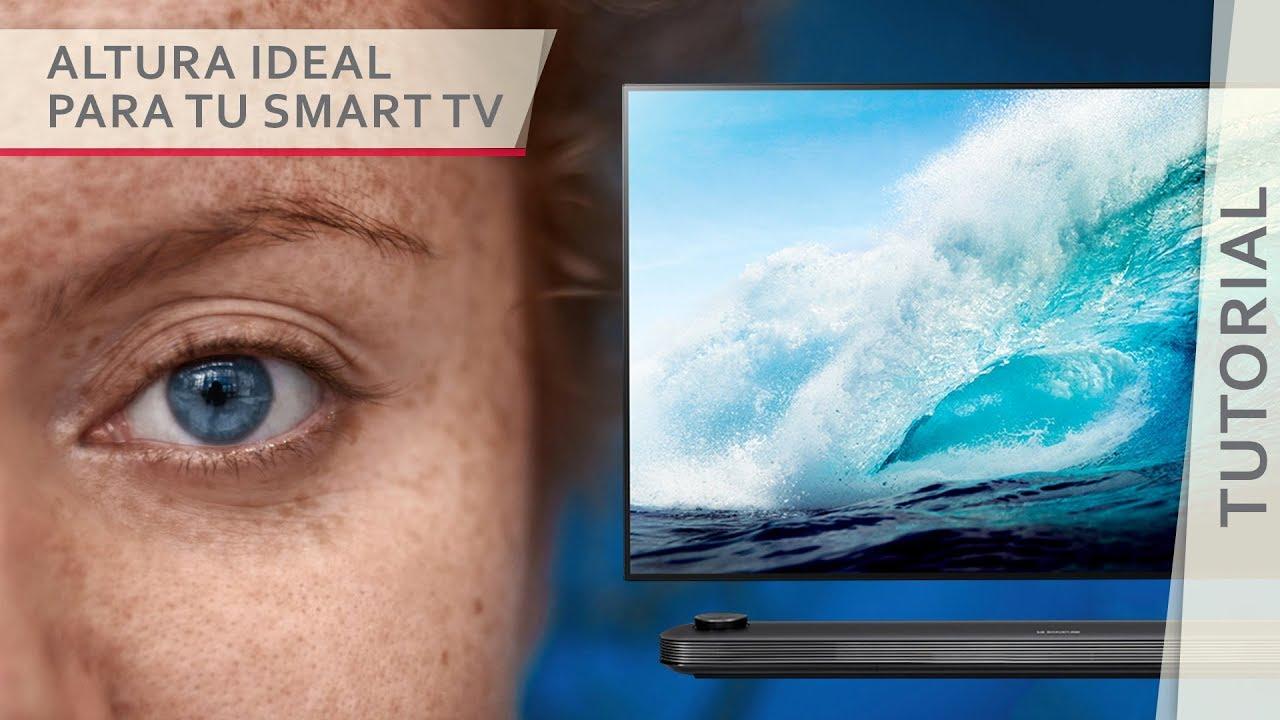 Conoce la altura ideal para colgar tu smart tv lg youtube - Altura para colgar tv ...