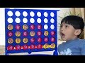 Learning ABC letter Alphabets connect 4 games using chips for kids