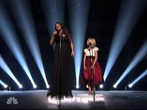 Jackie Evancho and Sarah Brightman from Americas Got Talent Finale