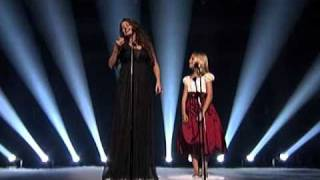 Jackie Evancho and Sarah Brightman from America