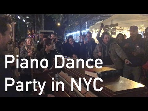 Spontaneous Piano Dance Party on the street in New York City