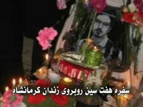 Martyr Kianoosh Asa´s family celeb. new year in front of Ker