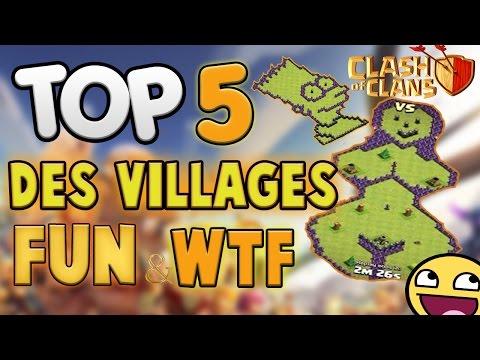 TOP 5 Des Villages FUN et WTF Clash of Clans