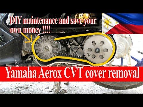 Yamaha Aerox CVT cover removal