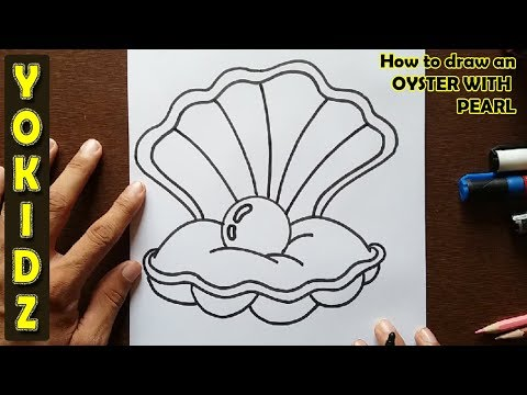 How to draw an OYSTER WITH A PEARL