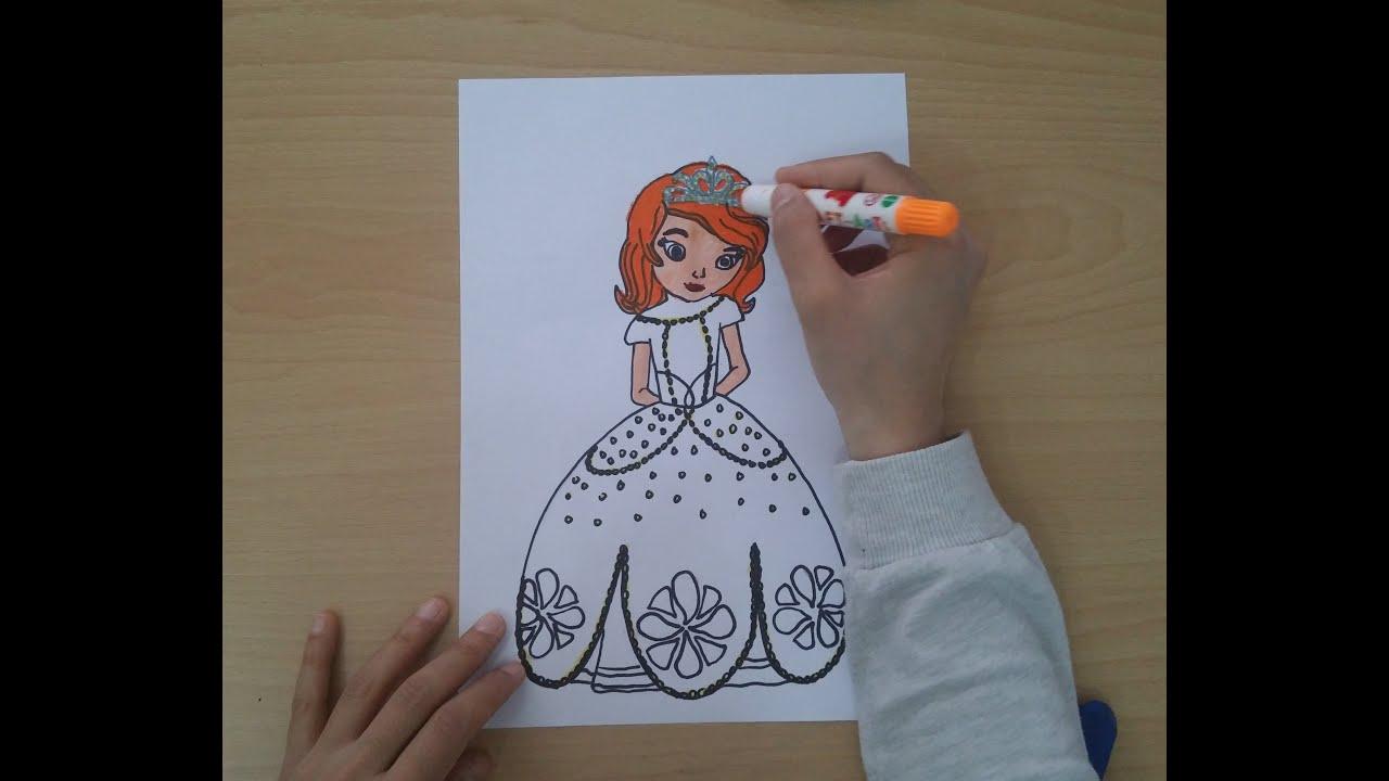 Prenses Sofia Kolay çizimi Izle Princess Sofia Disney Youtube
