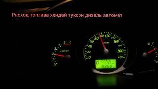 Расход топлива Хендай Туксон дизель автомат на 100км/ч по трассе!