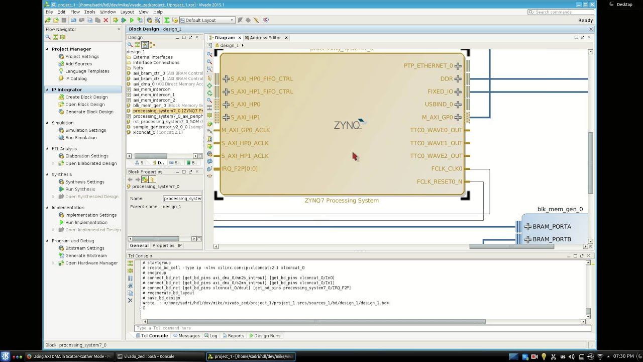 ZYNQ Training - Lesson 10 Part I - Using AXI DMA In Scatter-Gather Mode